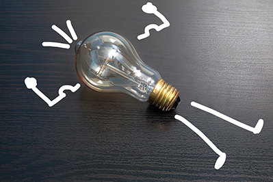 Foto van een lampje dat het idee achter waardebeleggen vertegenwoordigt.